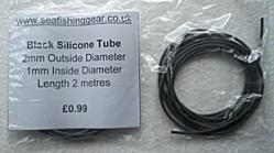 Buy 2mm Black Silicone Tube from Seafishinggear