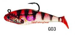 Buy Red and Black Shad (4 Pack) from Seafishinggear