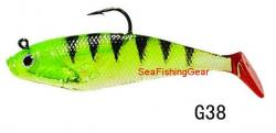 Buy Green and Black Shad (4 Pack) from Seafishinggear